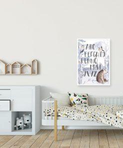 wesołe zwierzątka na plakacie dydaktycznym dla dzieci
