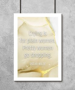 sentencja o kobietach na plakacie z białą ramą