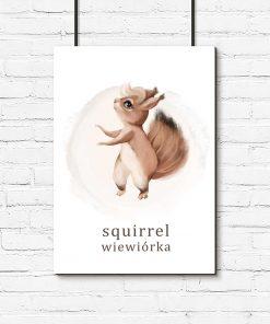Plakat do pokoju dziecka - Wiewiórka