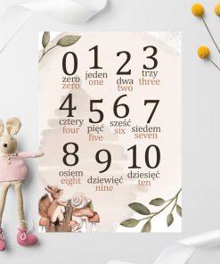 Urocza wiewiórka na plakacie do pokoju dziecinnego