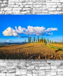 Plakat z willą w Toskanii do salonu