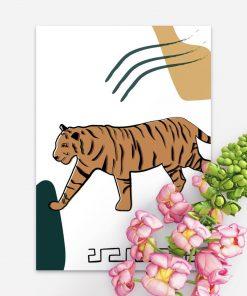 Plakat z motywem tygrysa do powieszenia w sypialni