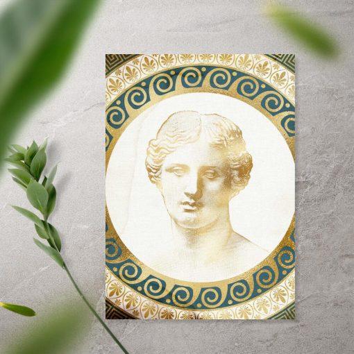 Plakat z głową mężczyzny z epoki Antyku