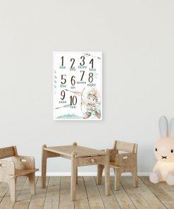 Plakat do pokoju rodzeństwa - Cyferki