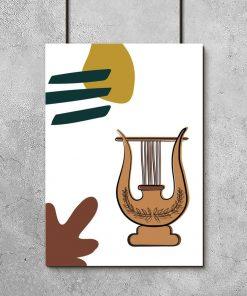 Plakat z zabytkowym instrumentem
