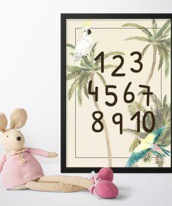 Zielone palmy- plakat dla dzieci