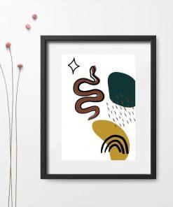 Plakat do oprawienia z motywem węża