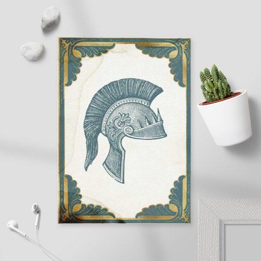 Plakat z motywem nakrycia głowy dla żołnierza