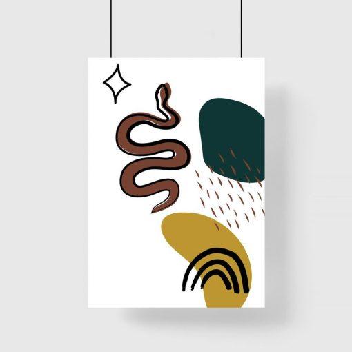 Plamy i wąż na plakacie