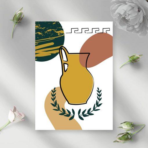 Plakat z wieńcem laurowym