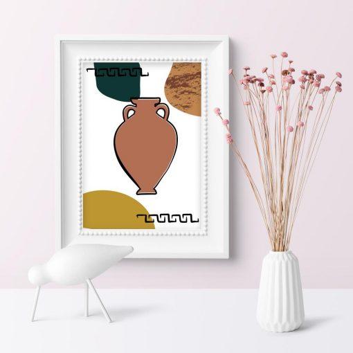 Plakat z motywem greckiej amfory