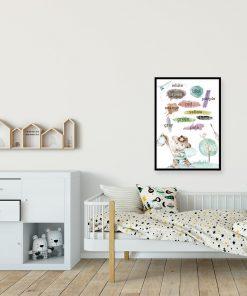 Plakat dla dzieci - Nauka kolorów