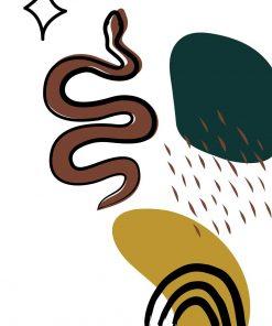 Plakat do klubu z motywem węża