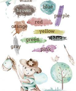 Plakat - Nauka kolorów