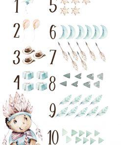 Liczby - Plakat z pióropuszem do przedszkola