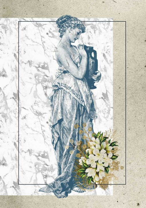 Plakat retro z kobiecą postacią