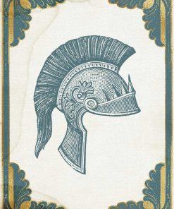 Plakat hełm rzymskiego oficera