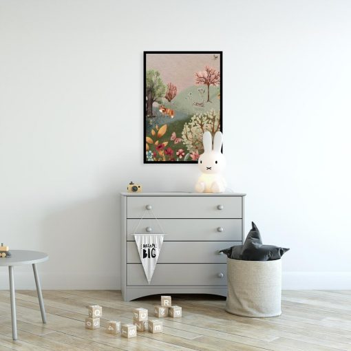 Kolorowy plakat dla dzieci - Lis