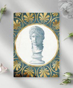 Plakat głowa kobiety i ornamenty