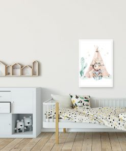 Bajkowy plakat do pokoju rodzeństwa