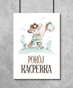 Miętowy plakat imienny dla dzieci