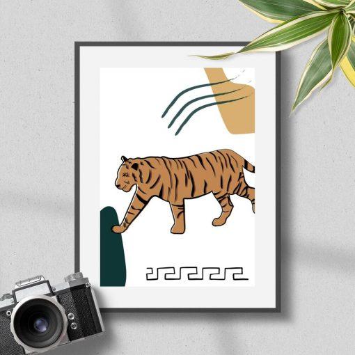 Plakat z dużym kotem