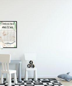 Plakat dla dziecka - Tabliczka mnożenia