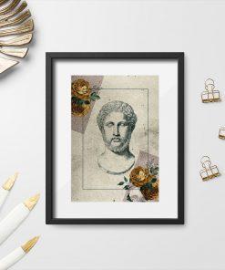 Plakat głowa greckiego mężczyzny