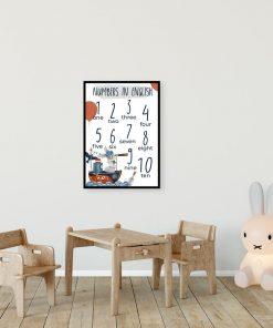 Liczby po angielsku - plakat dla ucznia