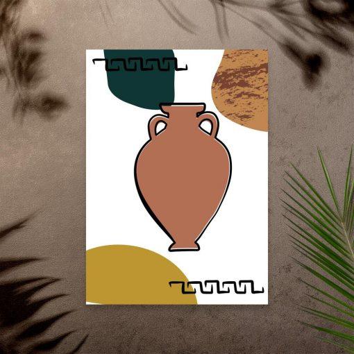 Plakat z motywem greckiej wazy