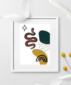 Plakat bez ramy z wężem