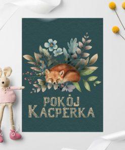 Plakat dziecięcy z typografią i zwierzątkiem