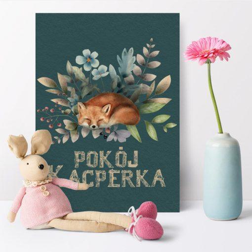 Plakat do pokoju Kacperka z liskiem