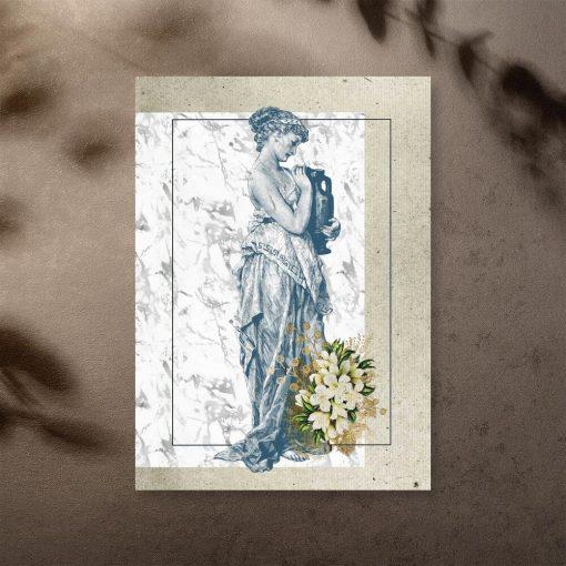 Plakat kobieta z amforą