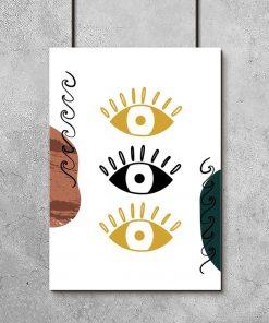 Plakat z ludzkimi oczami