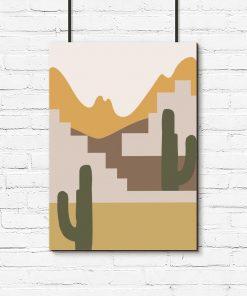 Plakat przedstawiający kaktusy