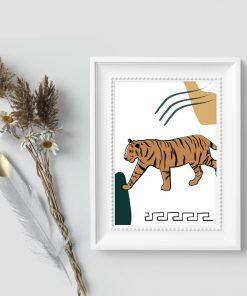 Plakat z dzikim kotem