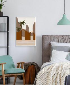 Nowoczesny plakat z górami do sypialni