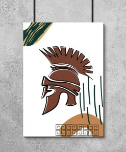 Plakat z osłoną na głowę żołnierza