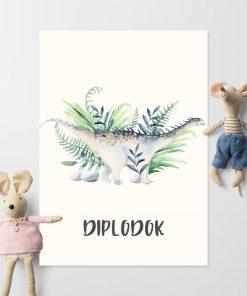 Diplodok - Plakat dla dzieci