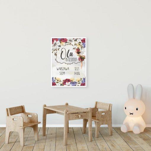 Plakat z imieniem dla dziewczynek - Bajkowy elf