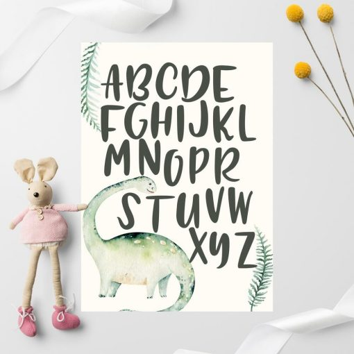 Plakat dla dziecka z alfabetem