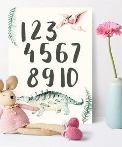 Plakat dziecięcy z cyframi