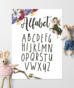 Plakat z literkami i wróżką