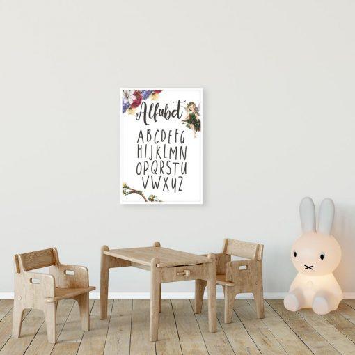 Plakat z typografią dla dzieci