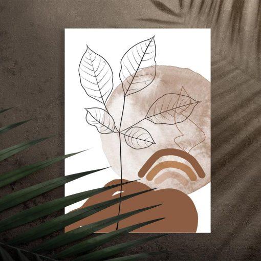 Plakat w kolorze czekolady do dekoracji poczekalni