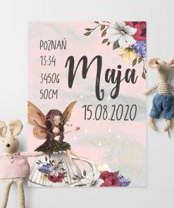 Plakat imienny z filiżanką dla dzieci