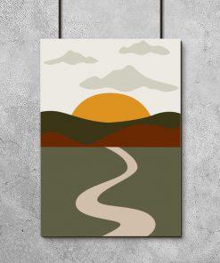 Plakat z widokiem na słońce