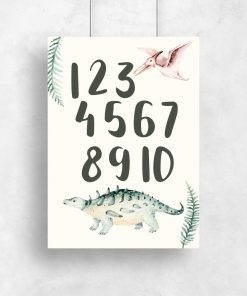 Plakat dla dzieci cyfry