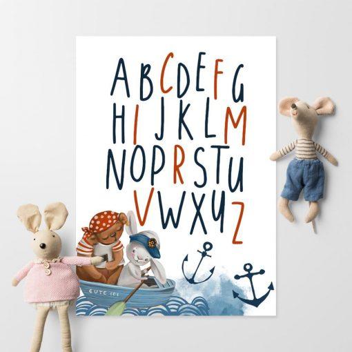 Plakat dla dzieci marine